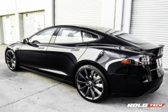 Model S Blue paint color black chrome