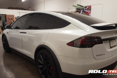 WHITE MODEL X CHROME BLACKOUT