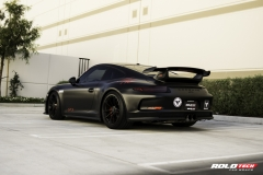 Porsche 911 GT3 Satin Black Full Wrap - Rolotech