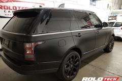 RANGE ROVER SATIN BLACK FULL WRAP WITH CERAMIC PRO COATED - Rolotech