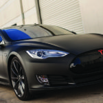Tesla model S chrome blackout Full Wrap