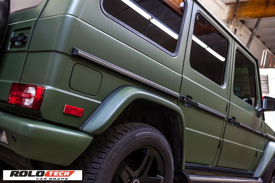 Mercedes G Wagon Fullw Wrap Matte Military Green