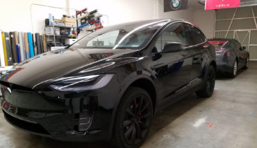 Tesla model X model S chrome blackout