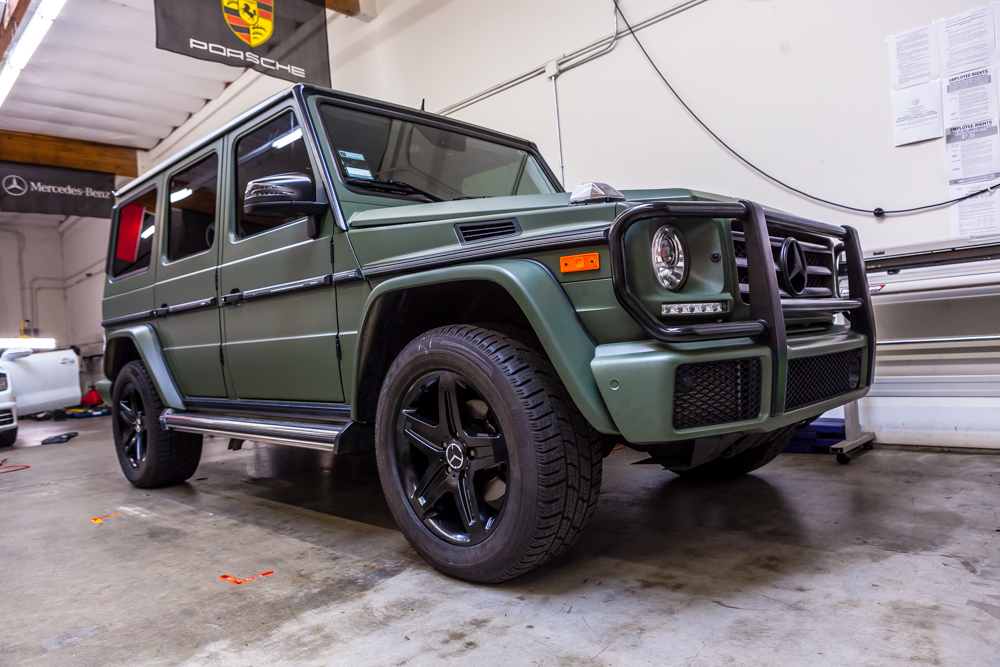 Mercedes Benz G Wagon G550 Military Green Rolotech
